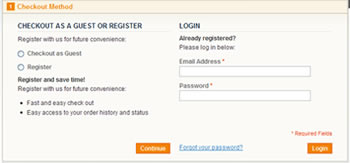 Allow Registered or Unregistered Customers