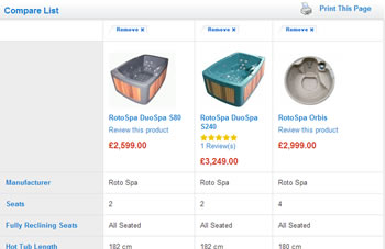 Allow customers to compare products side by side